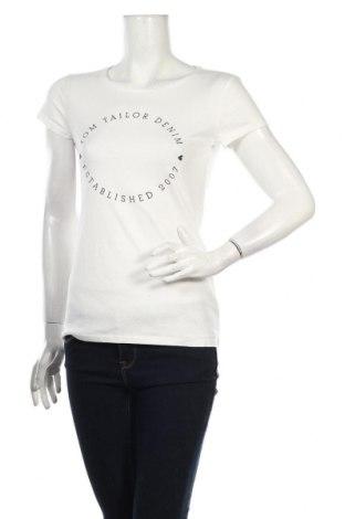 Dámske tričko Tom Tailor, Veľkosť S, Farba Biela, Bavlna, Cena  20,10€