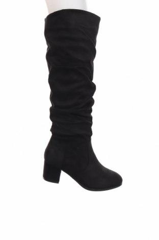 Γυναικείες μπότες Lily Shoes, Μέγεθος 38, Χρώμα Μαύρο, Κλωστοϋφαντουργικά προϊόντα, Τιμή 26,47€