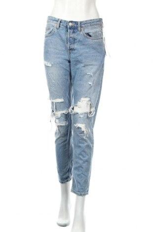 Дамски дънки H&M, Размер S, Цвят Син, 100% памук, Цена 40,32лв.