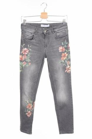 Dámske džínsy  Zara, Veľkosť S, Farba Sivá, 98% bavlna, 2% elastan, Cena  18,14€