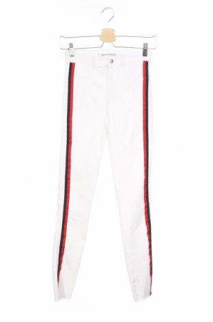 Dámske džínsy  Zara Trafaluc, Veľkosť XS, Farba Biela, 74% bavlna, 22% polyester, 4% elastan, Cena  20,79€