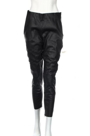 Γυναικείο παντελόνι δερμάτινο Zara, Μέγεθος XL, Χρώμα Μαύρο, Δερματίνη, Τιμή 29,28€