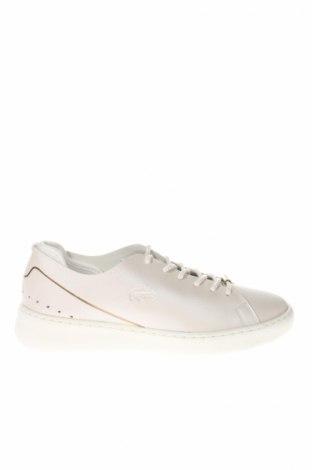 Dámske topánky  Lacoste, Veľkosť 39, Farba Kremová, Pravá koža , Cena  123,20€
