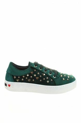Γυναικεία παπούτσια Love Moschino, Μέγεθος 40, Χρώμα Πράσινο, Κλωστοϋφαντουργικά προϊόντα, Τιμή 73,49€