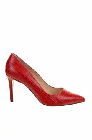 Γυναικεία παπούτσια Minelli, Μέγεθος 38, Χρώμα Κόκκινο, Γνήσιο δέρμα, Τιμή 35,75€