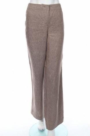 Дамски панталон Max&Co., Размер M, Цвят Бежов, Лен, Цена 106,50лв.