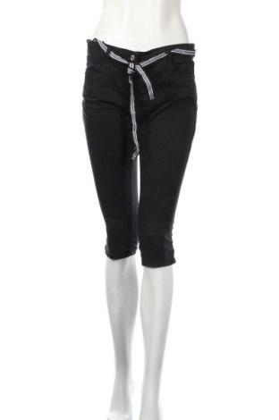 Дамски панталон Tom Tailor, Размер M, Цвят Черен, 97% памук, 3% еластан, Цена 42,00лв.