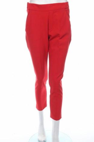 Дамски панталон Zara Trafaluc, Размер S, Цвят Червен, 88% полиестер, 12% еластан, Цена 28,50лв.