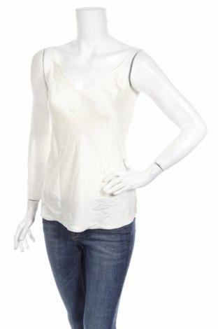 Дамски потник Max Mara, Размер S, Цвят Бял, 93% коприна, 7% еластан, Цена 128,52лв.