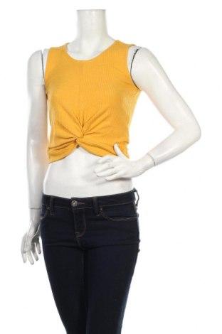 Női trikó Only, Méret S, Szín Sárga, 48% pamut, 47% poliészter, 5% elasztán, Ár 4004 Ft