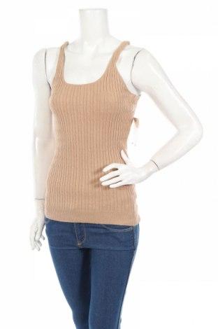 Дамски пуловер Derek Heart, Размер L, Цвят Бежов, 55% рамия, 35% памук, 10% полиамид, Цена 34,40лв.