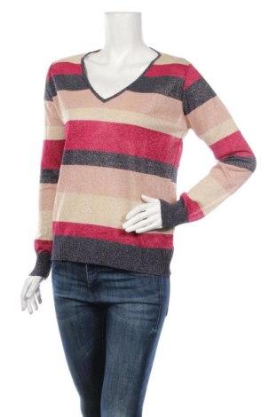 Damski sweter Rinascimento, Rozmiar M, Kolor Kolorowy, 65% wiskoza, 15% metalowe nici, 13% poliamid, 7% poliester, Cena 85,68zł