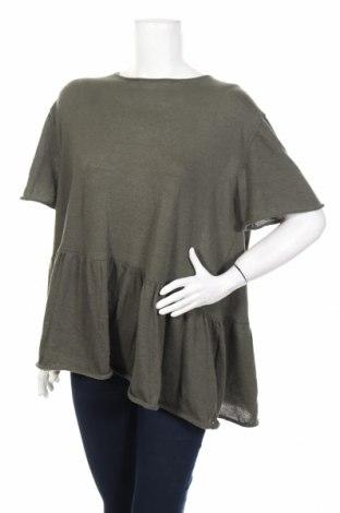 Dámsky polóver Zara Knitwear, Veľkosť M, Farba Zelená, 65% polyester, 35% bavlna, Cena  18,14€
