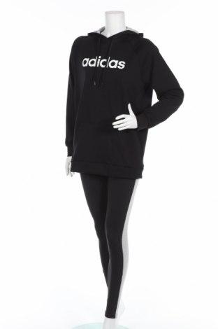 Дамски спортен комплект Adidas, Размер S, Цвят Черен, 52% памук, 48% полиестер, Цена 149,00лв.