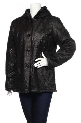 Дамско кожено яке Isaco & Kawa, Размер XL, Цвят Черен, Естествена кожа, Цена 173,15лв.