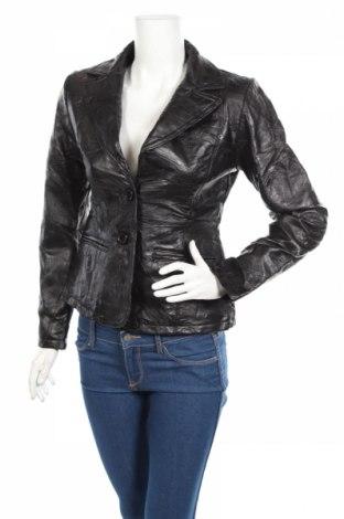 Γυναικείο δερμάτινο σακάκι, Μέγεθος S, Χρώμα Μαύρο, Γνήσιο δέρμα, Τιμή 96,75€