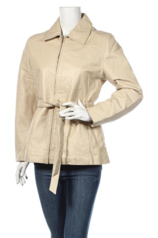 Γυναικείο δερμάτινο μπουφάν, Μέγεθος M, Χρώμα Εκρού, Γνήσιο δέρμα, Τιμή 69,37€