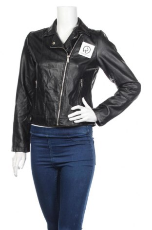 Дамско кожено яке Atmosphere, Размер M, Цвят Черен, Еко кожа, Цена 47,25лв.