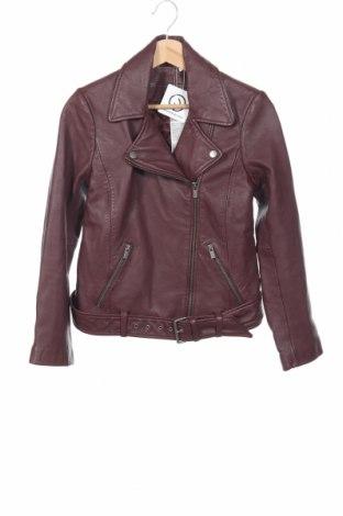 Γυναικείο δερμάτινο μπουφάν Comptoir Des Cotonniers, Μέγεθος XS, Χρώμα Κόκκινο, Γνήσιο δέρμα, Τιμή 180,60€