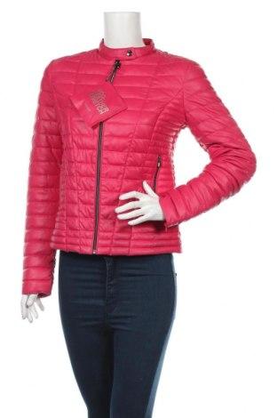 Дамско кожено яке Guess, Размер M, Цвят Розов, Еко кожа, Цена 182,07лв.