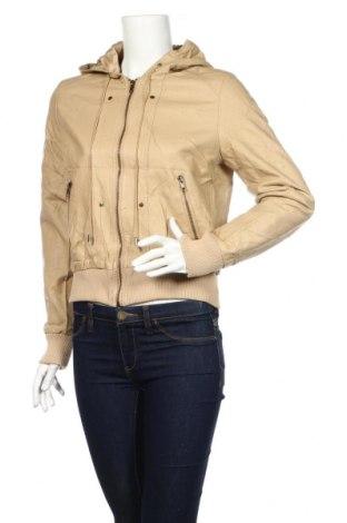 Γυναικείο δερμάτινο μπουφάν Ses, Μέγεθος L, Χρώμα  Μπέζ, Δερματίνη, Τιμή 40,74€