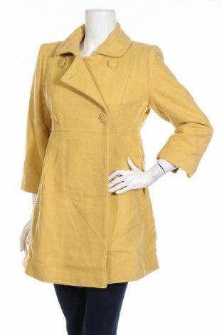 Дамско палто Atmosphere, Размер M, Цвят Жълт, 62% вълна, 25% полиамид, 10% акрил, 3% други нишки, Цена 72,45лв.