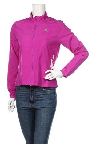 Γυναικεία αθλητική ζακέτα Adidas, Μέγεθος S, Χρώμα Βιολετί, Πολυεστέρας, Τιμή 16,66€