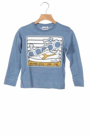 Детска блуза Diadora, Размер 4-5y/ 110-116 см, Цвят Син, Памук, Цена 28,50лв.