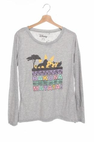 Bluză de copii Disney, Mărime 13-14y/ 164-168 cm, Culoare Gri, 65% poliester, 35% bumbac, Preț 55,24 Lei