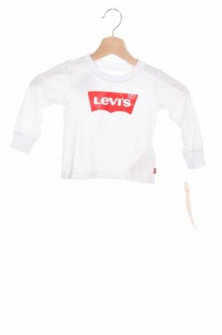 Detská blúzka  Levi's, Veľkosť 9-12m/ 74-80 cm, Farba Biela, Bavlna, Cena  17,81€