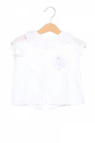 Детска блуза Lola Palacios, Размер 12-18m/ 80-86 см, Цвят Бял, Памук, Цена 21,75лв.