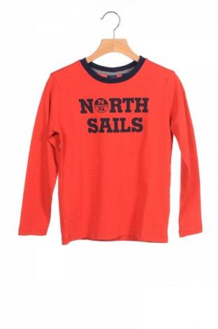 Детска блуза North Sails, Размер 5-6y/ 116-122 см, Цвят Червен, Памук, Цена 44,25лв.