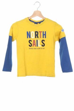 Детска блуза North Sails, Размер 5-6y/ 116-122 см, Цвят Жълт, Памук, Цена 44,25лв.