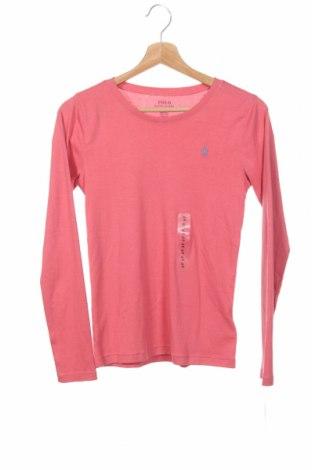 Детска блуза Polo By Ralph Lauren, Размер 15-18y/ 170-176 см, Цвят Розов, 52% памук, 48% модал, Цена 59,25лв.