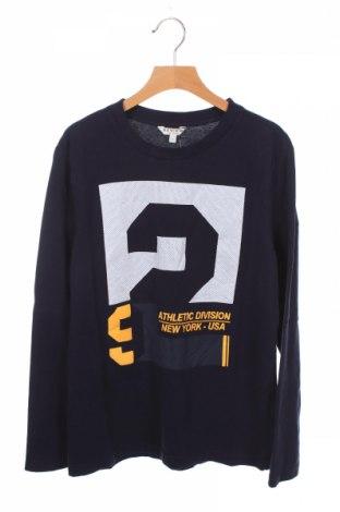 Детска блуза Review, Размер 11-12y/ 152-158 см, Цвят Син, Памук, Цена 6,48лв.