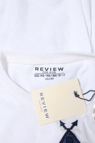 Детска блуза Review, Размер 9-10y/ 140-146 см, Цвят Бял, 100% памук, Цена 28,50лв.