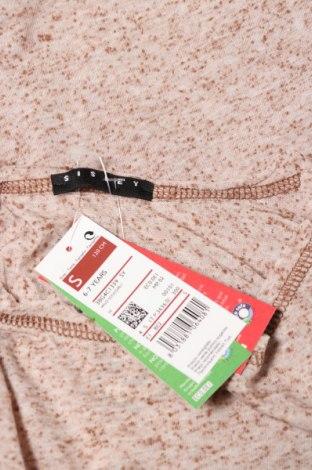 Детска блуза Sisley, Размер 6-7y/ 122-128 см, Цвят Бежов, 80% полиестер, 20% памук, Цена 4,68лв.
