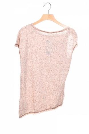 Детска блуза Sisley, Размер 10-11y/ 146-152 см, Цвят Бежов, 80% полиестер, 20% памук, Цена 4,68лв.