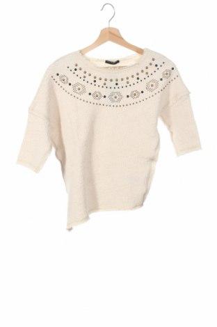 Детска блуза Sisley, Размер 9-10y/ 140-146 см, Цвят Екрю, 81% памук, 19% полиестер, Цена 44,25лв.