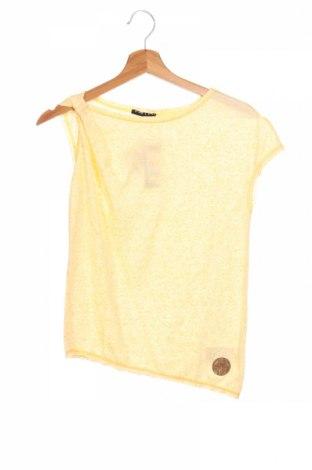 Детска блуза Sisley, Размер 10-11y/ 146-152 см, Цвят Жълт, 80% полиестер, 20% памук, Цена 3,90лв.