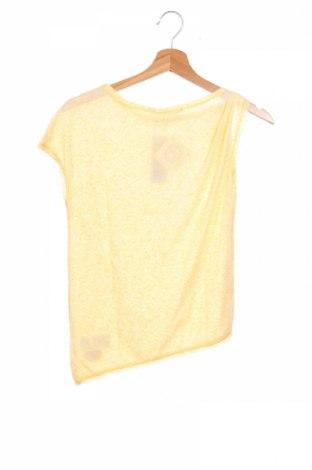 Детска блуза Sisley, Размер 10-11y/ 146-152 см, Цвят Жълт, 80% полиестер, 20% памук, Цена 4,68лв.