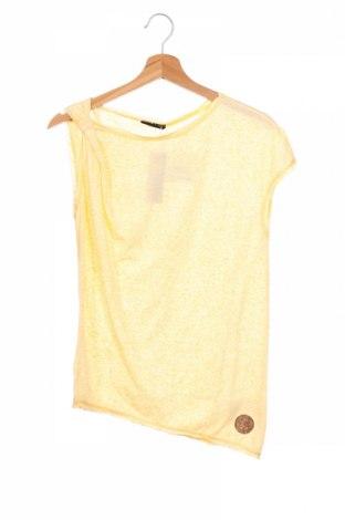 Детска блуза Sisley, Размер 13-14y/ 164-168 см, Цвят Жълт, 80% полиестер, 20% памук, Цена 4,68лв.