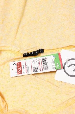 Детска блуза Sisley, Размер 11-12y/ 152-158 см, Цвят Жълт, 80% полиестер, 20% памук, Цена 4,68лв.