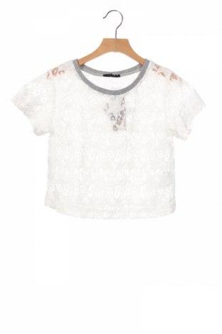 Детска блуза Sisley, Размер 6-7y/ 122-128 см, Цвят Бял, 65% полиамид, 35% памук, Цена 3,90лв.