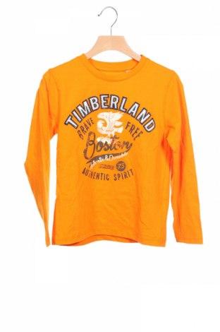 Детска блуза Timberland, Размер 6-7y/ 122-128 см, Цвят Оранжев, Памук, Цена 59,25лв.