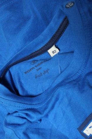 Детска блуза Tom Tailor, Размер 18-24m/ 86-98 см, Цвят Син, Памук, Цена 21,76лв.
