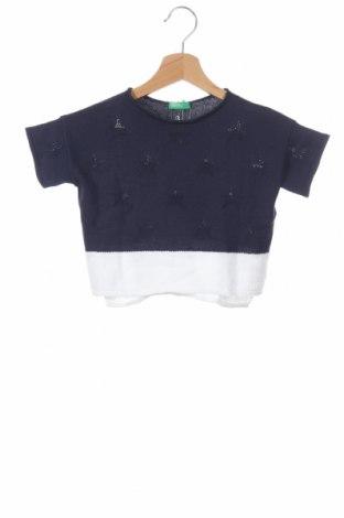 Детска блуза United Colors Of Benetton, Размер 18-24m/ 86-98 см, Цвят Син, 50% памук, 50% акрил, Цена 34,50лв.