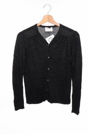 Детска жилетка Zara Knitwear, Размер 13-14y/ 164-168 см, Цвят Черен, Цена 21,02лв.