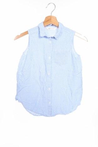 Детска риза H&M, Размер 10-11y/ 146-152 см, Цвят Син, Вискоза, Цена 18,72лв.
