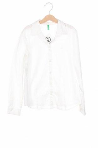 Dětská košile  United Colors Of Benetton, Rozměr 10-11y/ 146-152 cm, Barva Bílá, Bavlna, Cena  281,00Kč